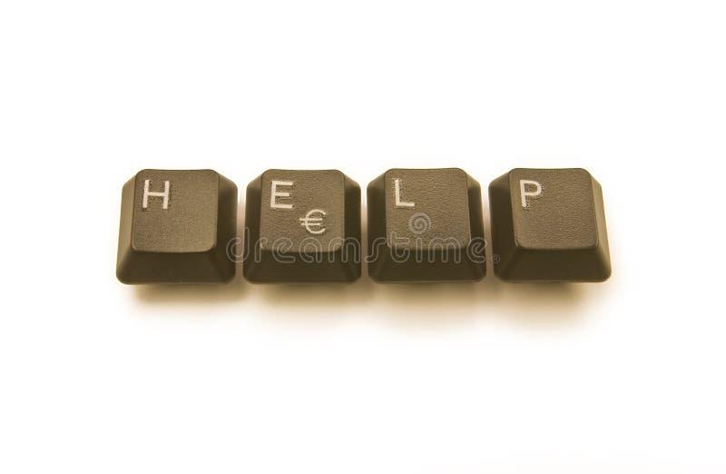 pomaga klawiaturowym kluczom zdjęcia royalty free