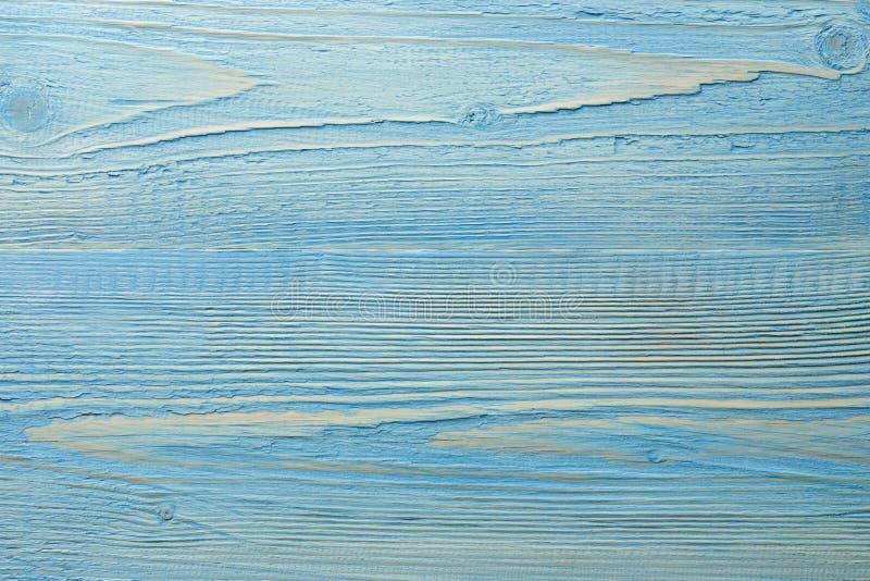 Pomalowane niebieskie drewniane tło fotografia royalty free