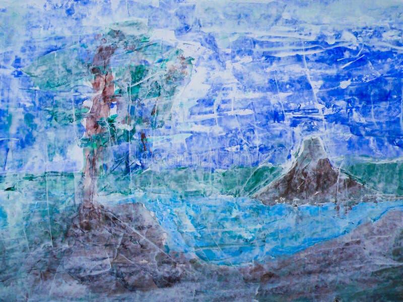 pomalowany krajobrazu ilustracji