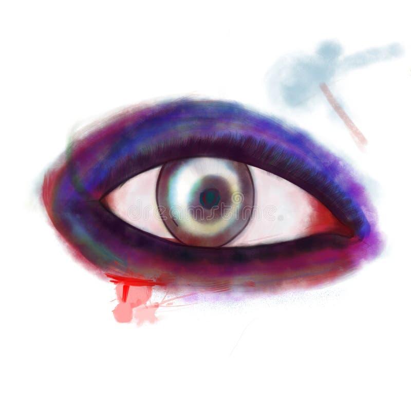 pomalowany oko royalty ilustracja
