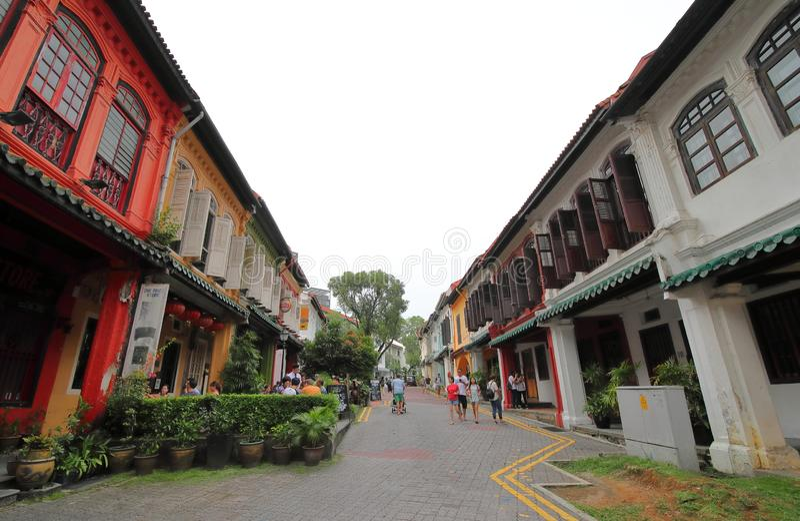 Pomar Singapura da área da conservação de Emerald Hill fotos de stock royalty free