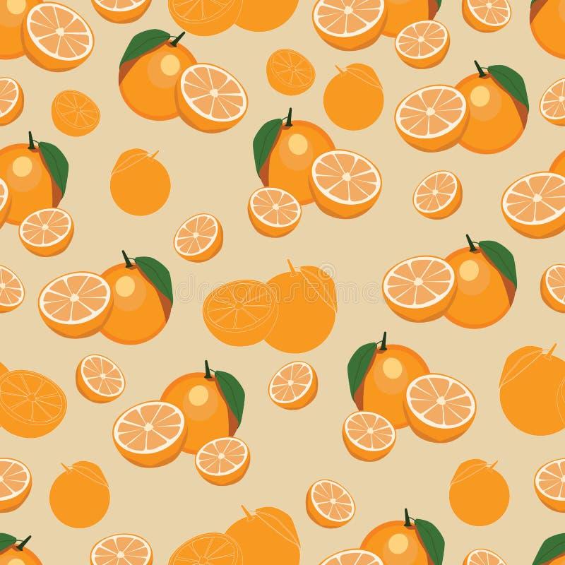 Pomarańczowa owoc powtarzający wzór ilustracji