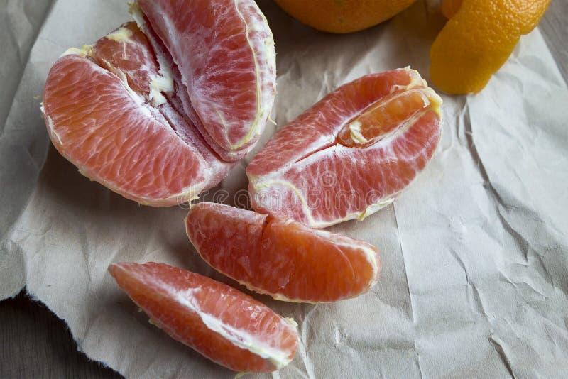 Pomarańcz sekcje zdjęcia stock
