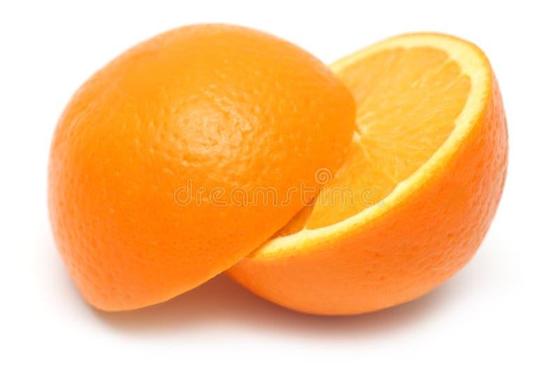 pomarańcza z pokroić fotografia stock