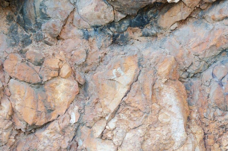 Pomarańcze ściana dziki kamienia zakończenie up obraz royalty free