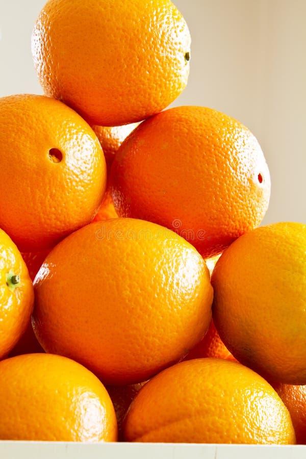 pomarańcze świeży stos zdjęcie stock
