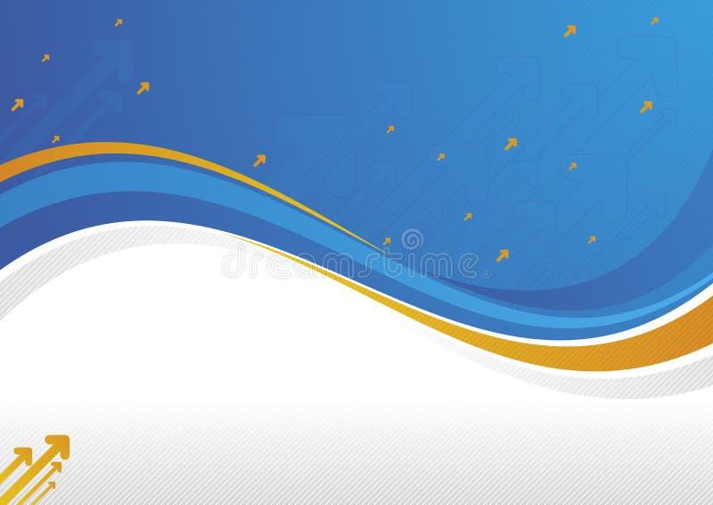 pomarańcze błękitny fala ilustracji