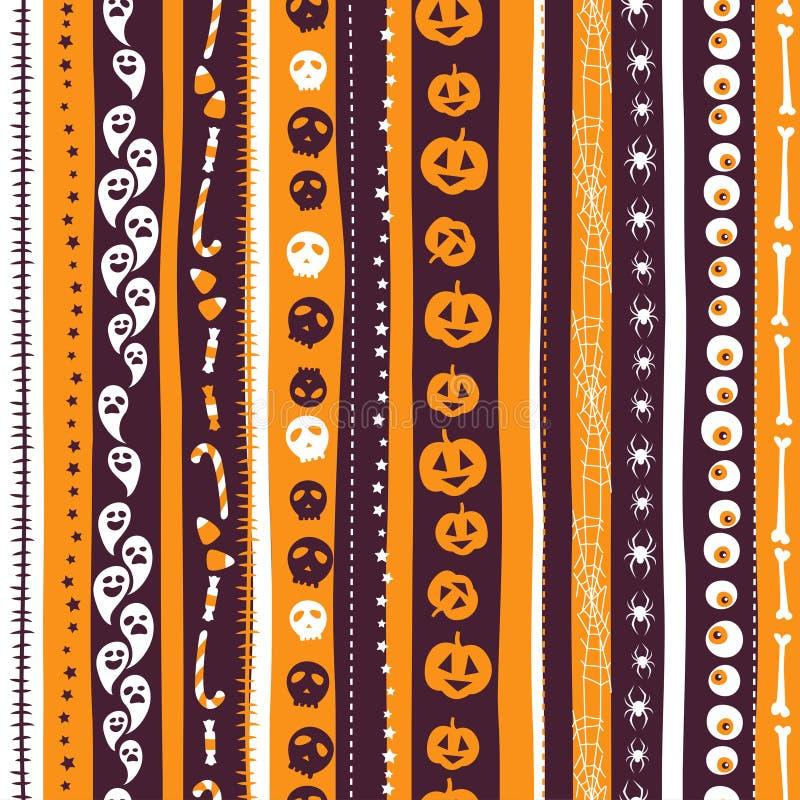 Pomarańcze, biel i pirple tła bezszwowy abstrakt, paskowaliśmy pa ilustracja wektor