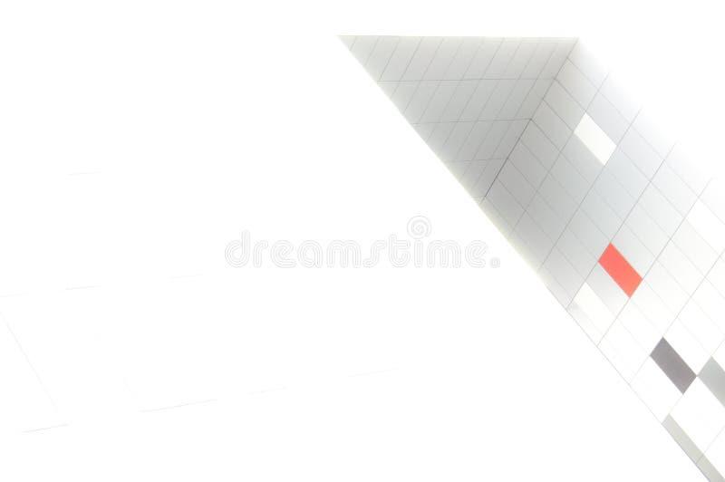 Pomarańcze, biel i siwieje pudełka na białym tle obraz stock