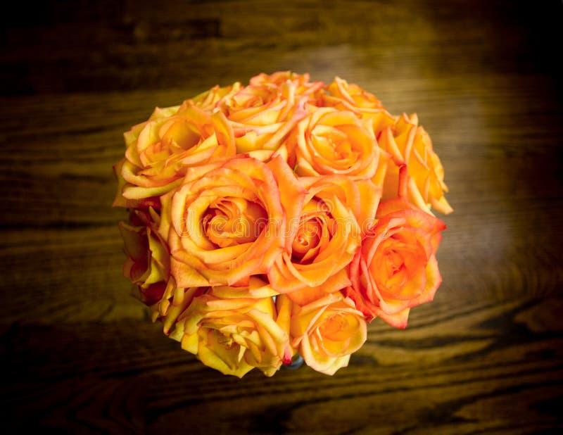 pomarańcze bukiet róż zdjęcie royalty free
