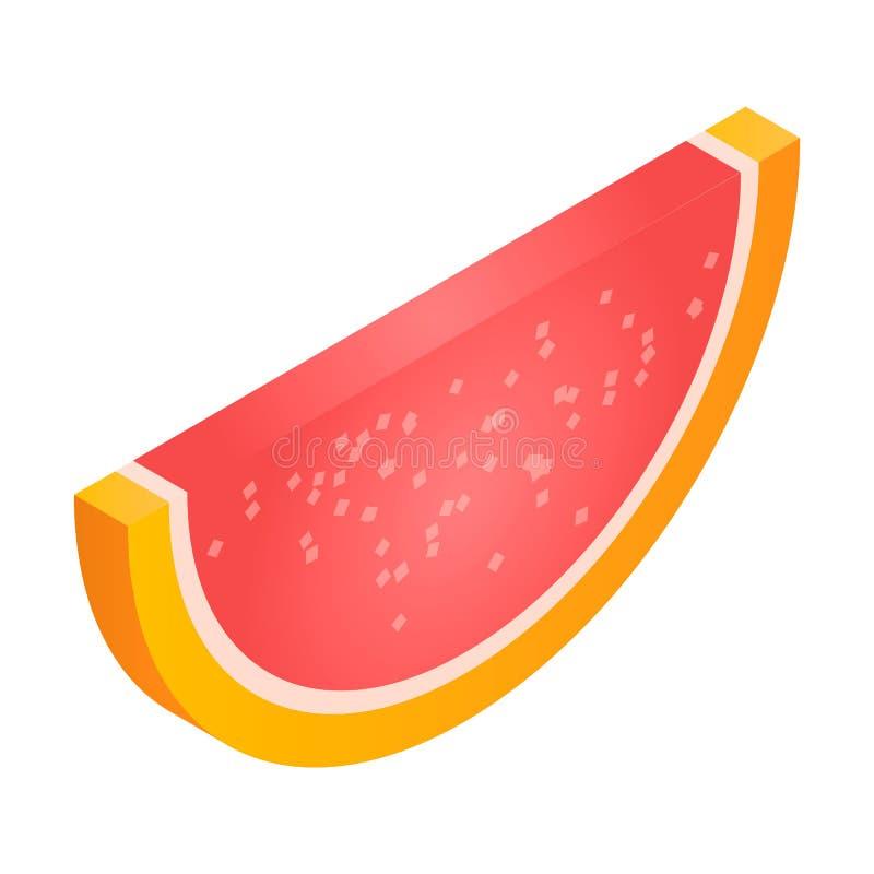 Pomarańcze cukierku galaretowa ikona, isometric styl ilustracji