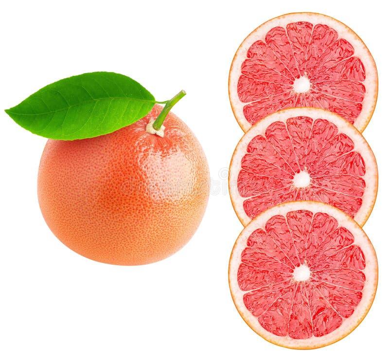 Pomarańcze, cytryna, wapno plasterki odizolowywający na białym tle obraz stock