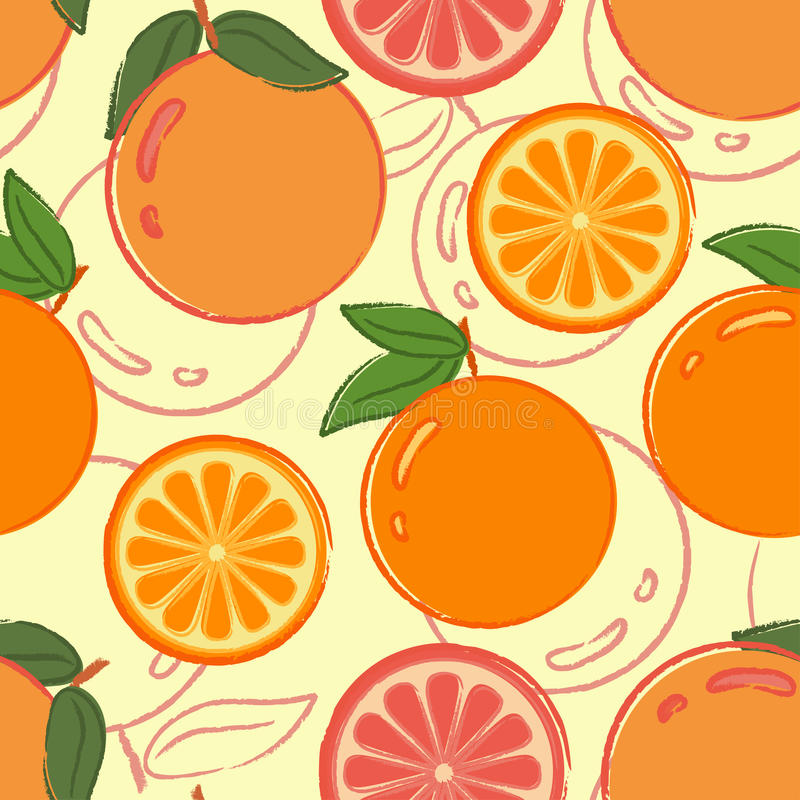 pomarańcze deseniują bezszwowego ilustracja wektor