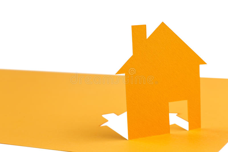 Pomarańcze domu cięcie z papieru zdjęcie stock