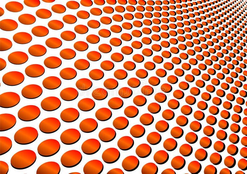 pomarańcze falistej okrąża royalty ilustracja