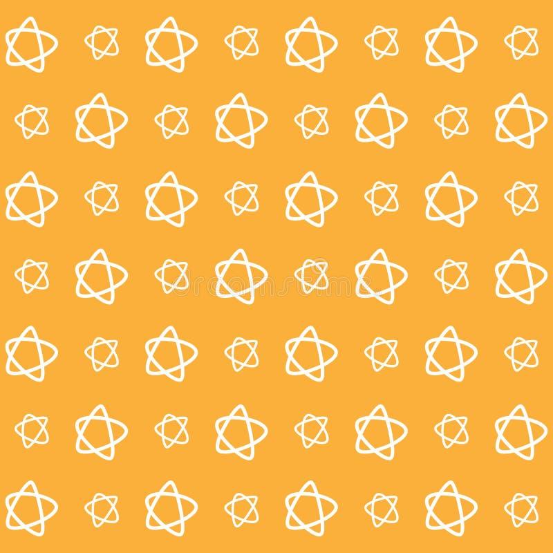 Pomarańcze gwiazdowy tapetowy wielki dla jakaś use eps10 kwiatów pomarańcze wzoru stebnowania rac ric zaszywanie paskował podstrz ilustracja wektor
