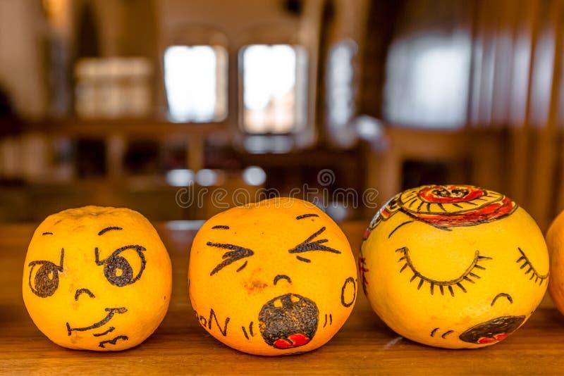 Pomarańcze Halloweenowe obrazy stock