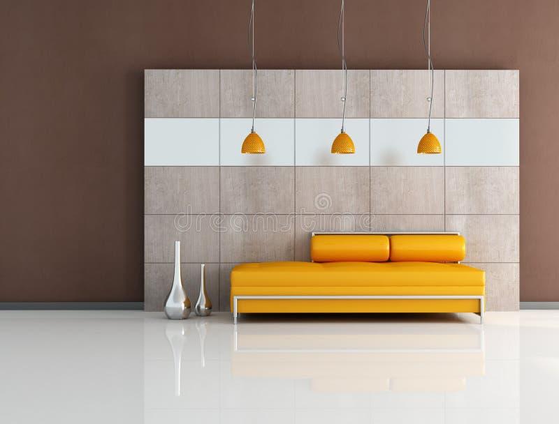 pomarańcze holu minimalna pomarańcze ilustracja wektor