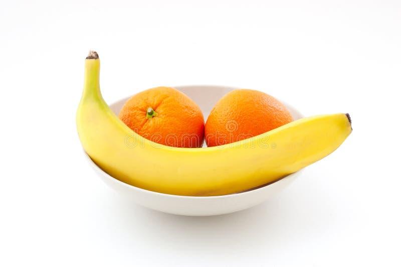 Pomarańcze i banana wciąż życie fotografia royalty free