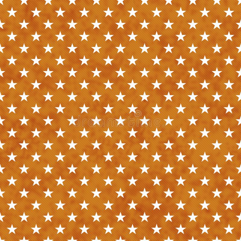 Pomarańcze i bielu gwiazd bezszwowy deseniowy tło ilustracja wektor