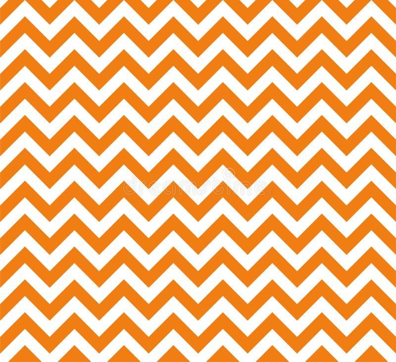 Pomarańcze i bielu wektoru Zygzakowaty bezszwowy wzór ilustracji