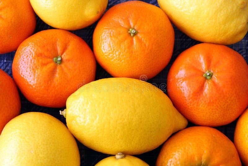 Pomarańcze i cytryny obraz stock
