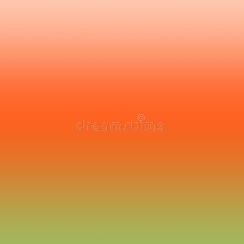 Pomarańcze i zieleni tła Ombre rewolucjonistki zieleni Gradientowy wzór royalty ilustracja