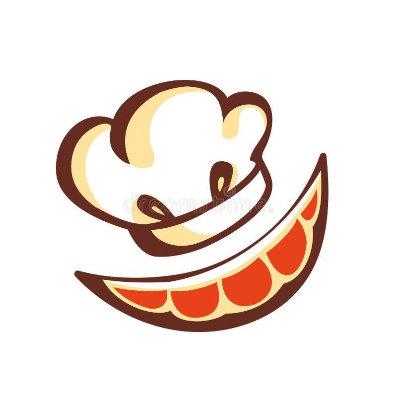 Pomarańcze kucharza nakrętka emblemat piktogram ikona royalty ilustracja