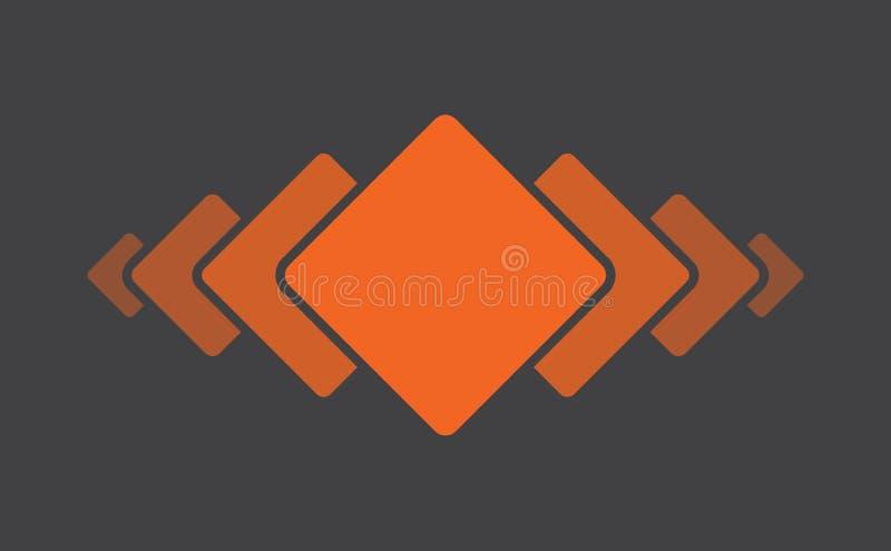 Pomarańcze Kwadratowy Geometryczny projekt ilustracja wektor