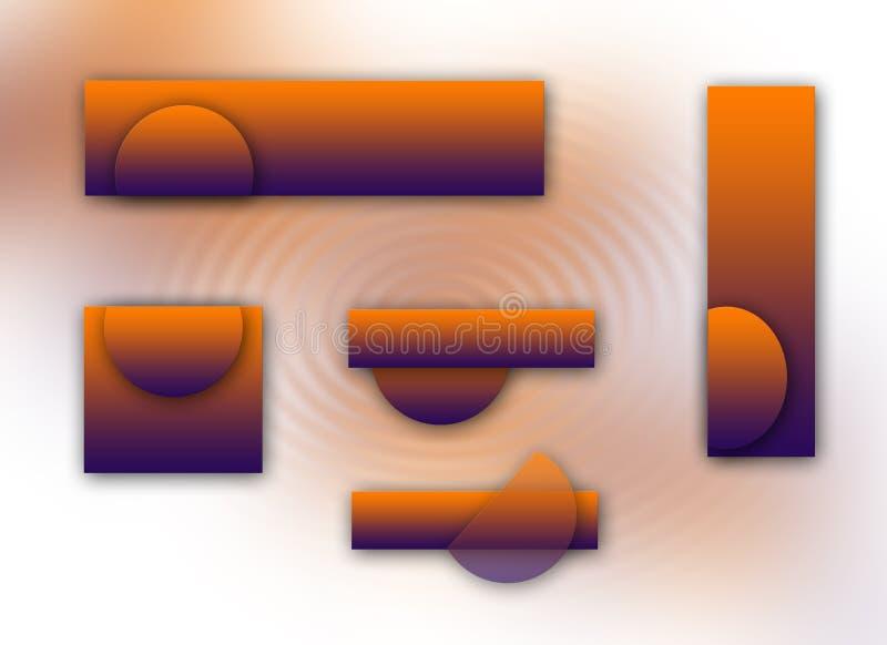 pomarańcze logoset purpurowy royalty ilustracja