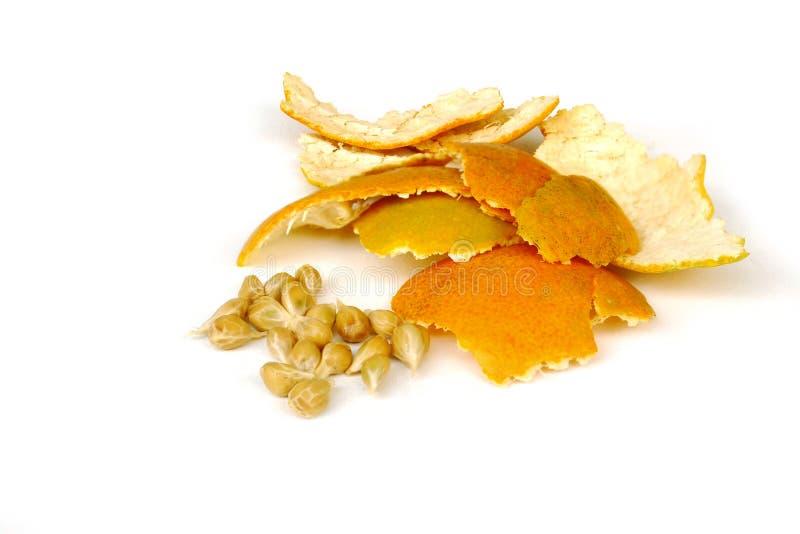 Pomarańcze - Makro- fotografia stock