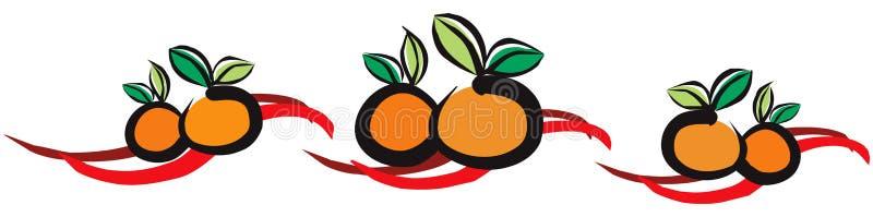 pomarańcze, mandarynki royalty ilustracja