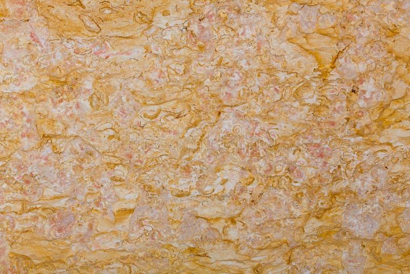Pomarańcze marmur tafluje tekstury ścianę, abstrakcjonistyczny tło zdjęcia royalty free
