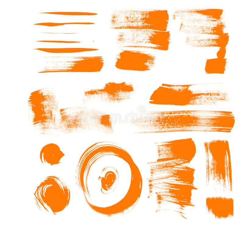 Pomarańcze muśnięcia uderzenia ilustracja wektor