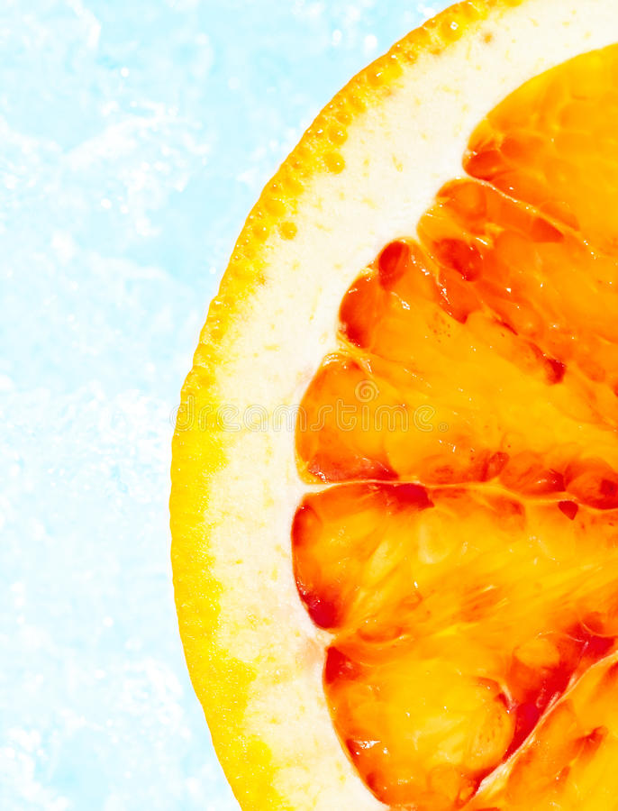 Pomarańcze na lodzie zdjęcia stock
