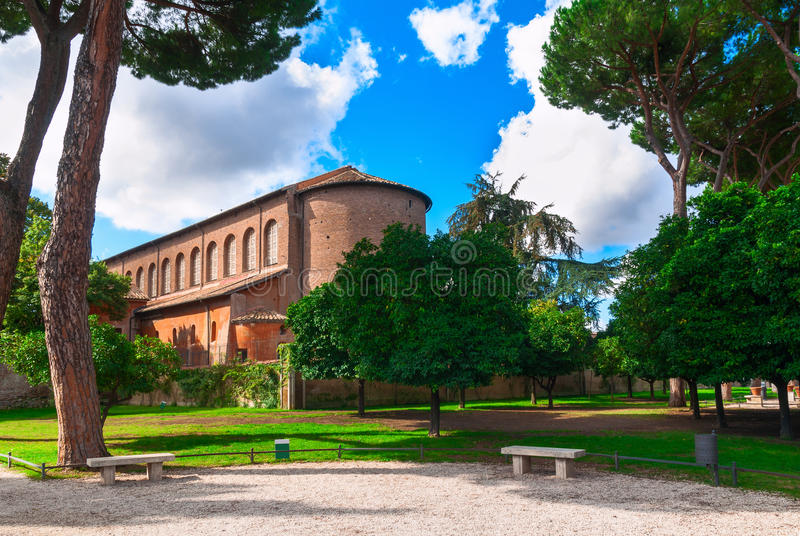 Pomarańcze ogród na Aventine wzgórzu w Rzym Włochy obraz stock