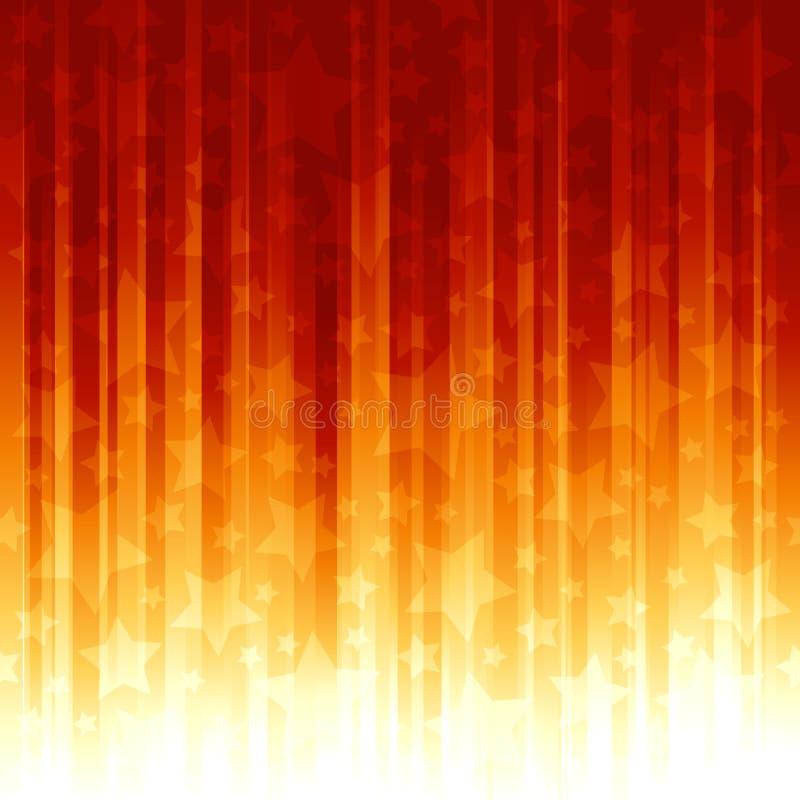 pomarańcze overlayed czerwieni gwiazd lampasy royalty ilustracja