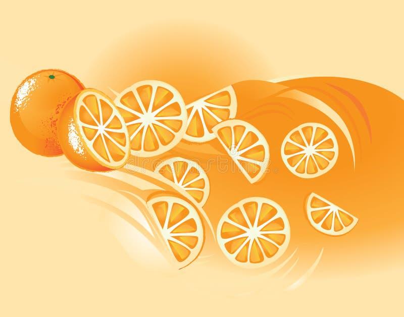 Pomarańcze, Owoc royalty ilustracja