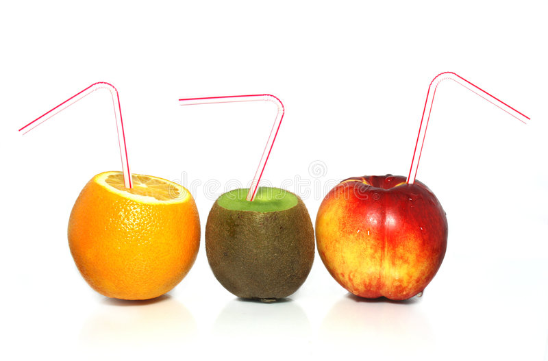 pomarańcze peach kiwi obrazy stock