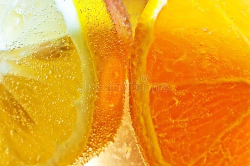 Pomarańcze plasterki w szczególe zdjęcie royalty free