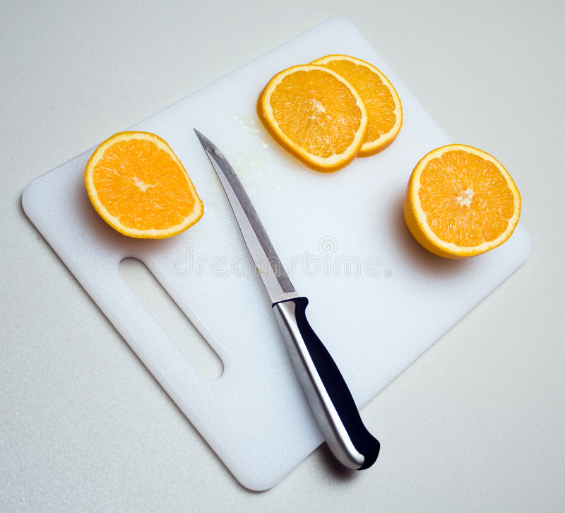 pomarańcze pokrajać fotografia royalty free