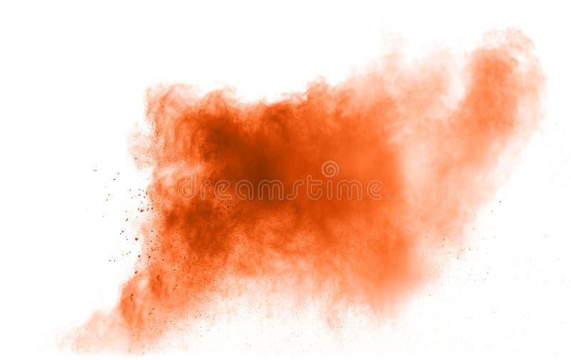 Pomarańcze prochowy wybuch zdjęcia stock