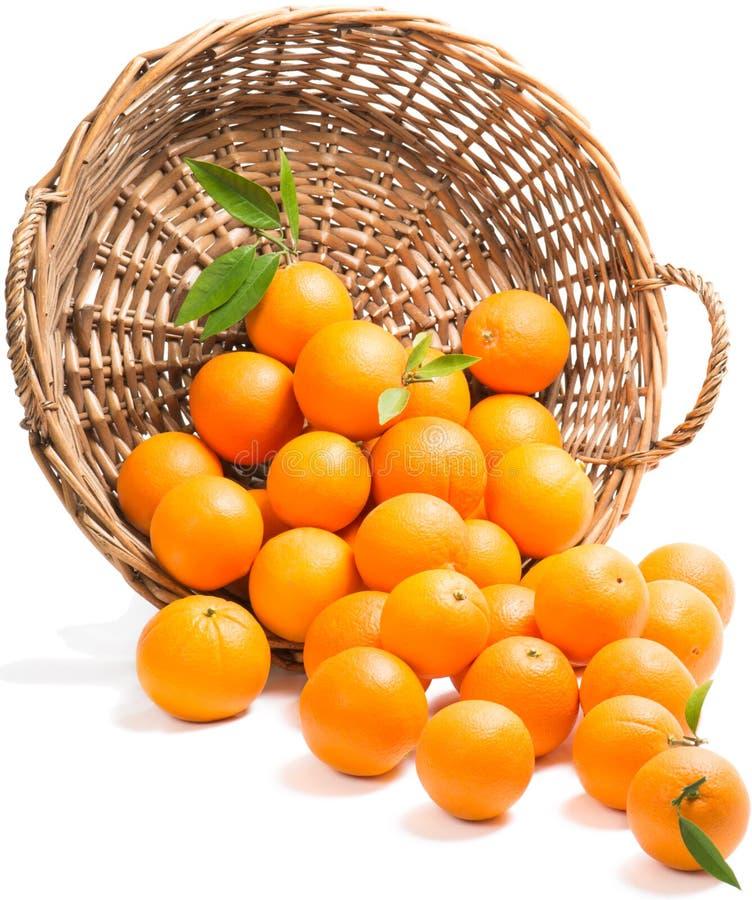 Pomarańcze rozpraszać obraz royalty free