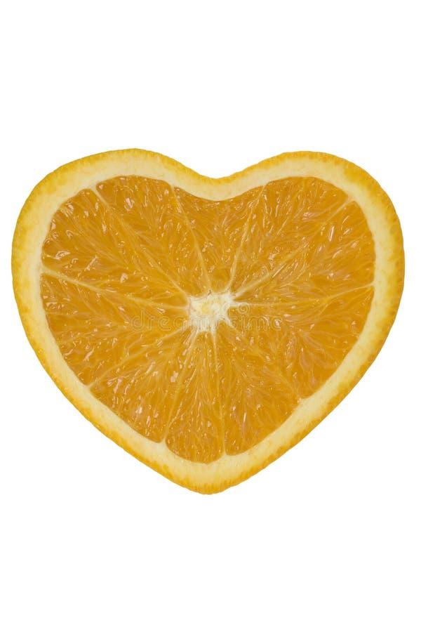 pomarańcze serca obrazy stock