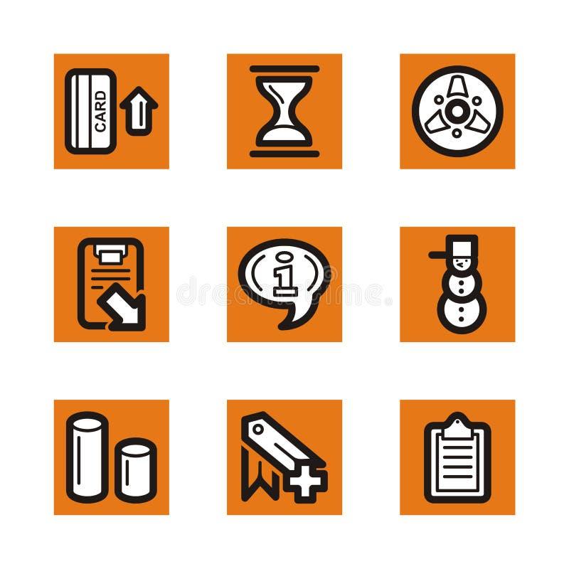 pomarańcze serię ikony royalty ilustracja