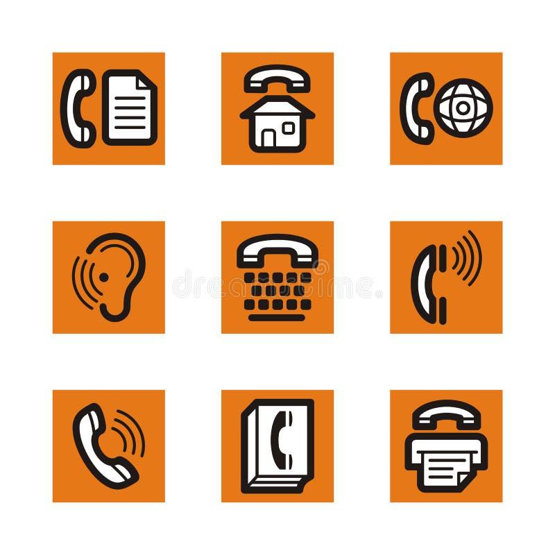 pomarańcze serię ikony ilustracja wektor