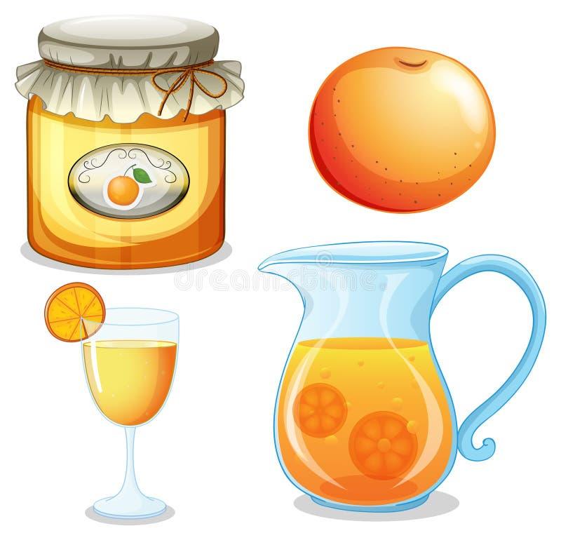 Pomarańcze set ilustracja wektor