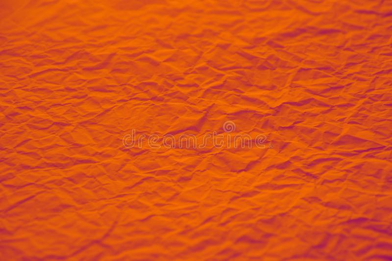 Pomarańcze Silnie miętosząca papierowa tekstura zdjęcie stock
