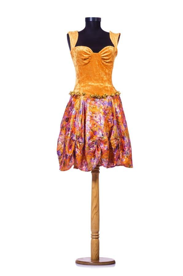 Pomarańcze suknia na atrapie fotografia royalty free