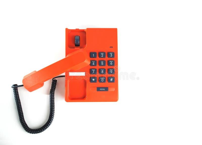Pomarańcze telefon odizolowywający zdjęcie stock